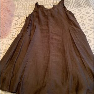 Brown swing dress